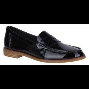 Sperry Seaport Patent Leather Penny Loafer New
